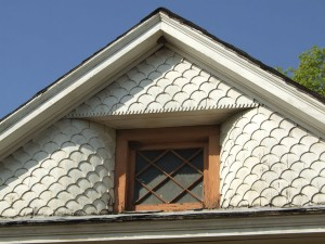 House at Woodlawn Avenue, Front Gable Detail, View to West
